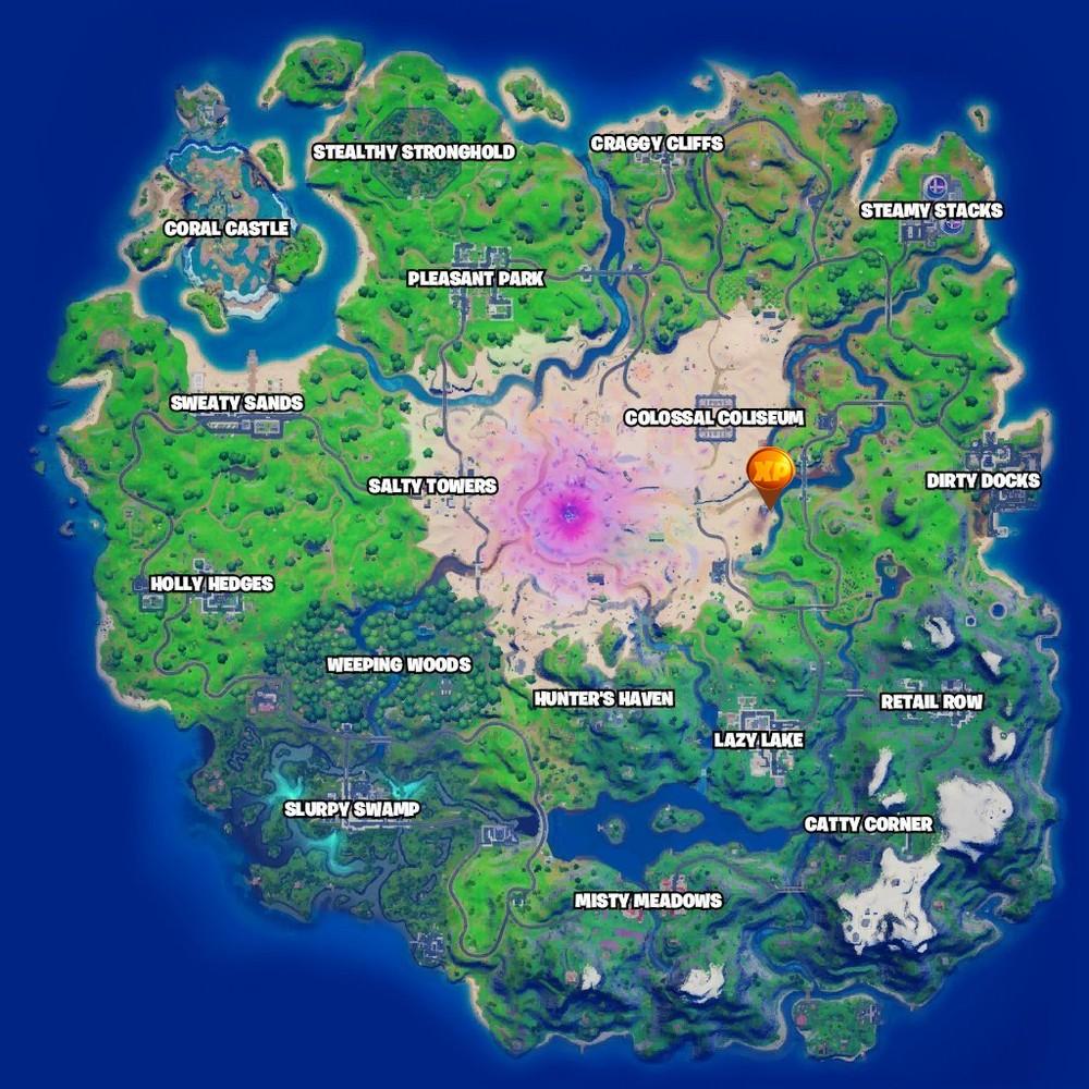Mapa Moedas Roxas Temporada 5 Capitulo 2 Fortnite