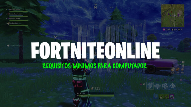 Requisitos mínimos para jogar Fortnite em computador